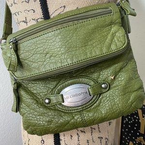 Liz Claiborne Leather Crossbody in Green